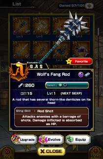 Wolf's Fang Rod