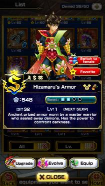 Hizamaru'sArmor