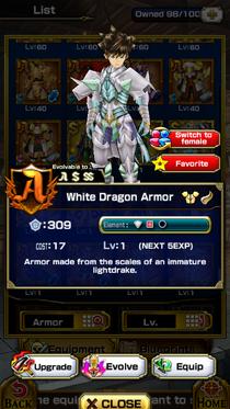 White Dragon Armor (M)