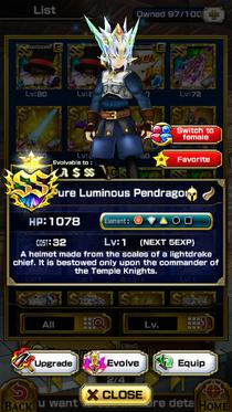 Pure Luminous Pendragon (M)