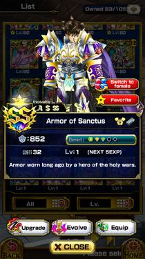 Armor of Sanctus (M)