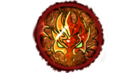 Emberis stained glass emblem