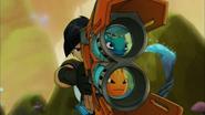 'Burpy' & 'Beeker' in 'Fusion Blaster'