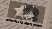 Inspector C. Fox-Head of Security