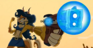 Carmelita holding her Shock Pistol in Thieves in Time