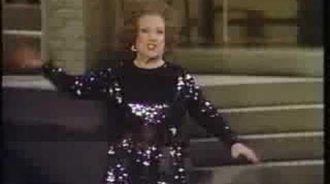 "Ethel Merman sings ""Everything's Coming Up Roses"""