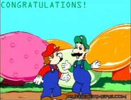 Toon luigi congratulations