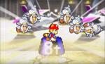 Mario and Luigi stomp on some baddies