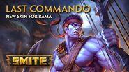 SMITE - New Skin for Rama - Last Commando (Season Ticket 2016)