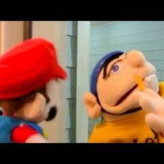 Mario meets Jeffy