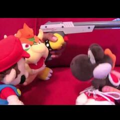 Mario with Bowser and Black Yoshi