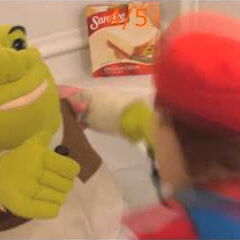 Mario and Shrek