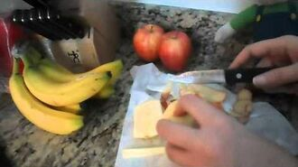 Honeyblade Movie Luigi Eats an Apple!