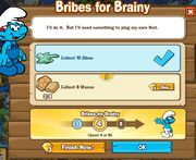 Bribes for Brainy