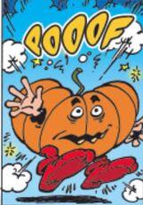 Gargamel turned into a pumpkin image