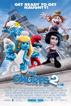 Get Ready To Get Naughty Smurfs Poster