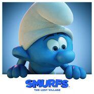 Smurf Peering From Window Promo