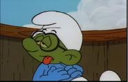 Seasick Brainy Smurf
