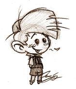 Chibi Peewiy Sketch - Smurfs