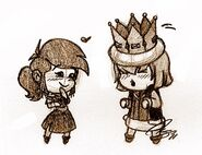 Chibi Gerard and Falla - Smurfs