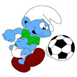 Soccer Smurf
