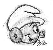 Clockwork Side Sketch - Smurfs