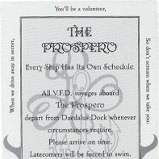 The V.F.D. ticket to the Prospero
