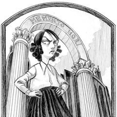 Primary Image: Carmelita Spats with the Memento Mori archway in the background