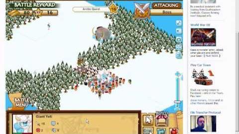 Social Empires Boss Fight(Giant Yeti)