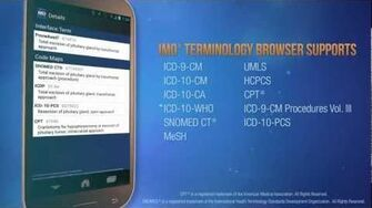 IMO Medical Terminology Browser Mobile App