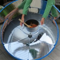 SolarCooker Eco3 new pot suppport, 1-24-13