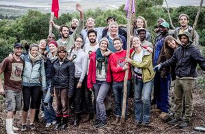 Greenpop tree planting group, May 2014, photo - Jacques Smit, 5-28-14