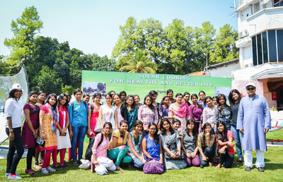 Solar cooking workshop 1, C.V. Raman College, 3-30-15