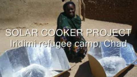 Solar cooker project - Iridimi refugee camp, Chad (Oct 2007)