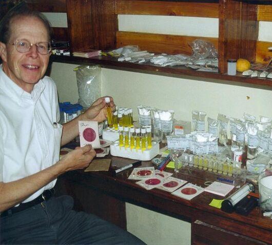 File:Robert Metcalf with water testing equipment.jpg