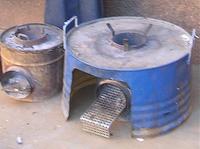 Rocket stoves large
