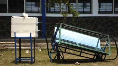 Trough parabolic reflector for domestic water heater under indonesian climate