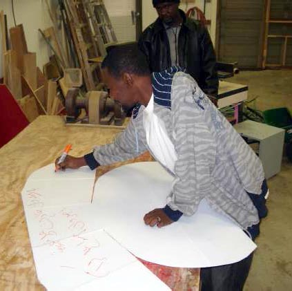 File:Volunteers in Fort Wayne, Indiana (USA) are making corrugated plastic solar cookers for displaced families in Darfur.jpg