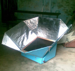 FUTEK solar box cooker, 11-18-14