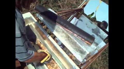 Pão assado no forno solar P.S.II