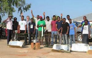 AUN students, Nigeria, fabricate CooKits, 10-15-15