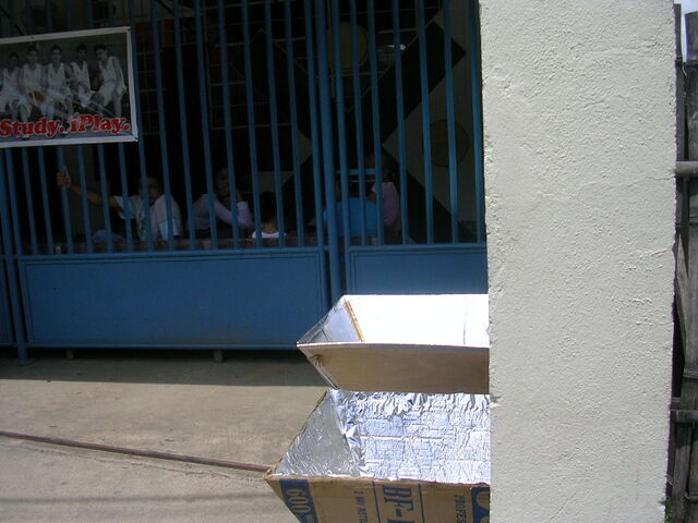 File:Two solar cookers at the Kong Hua School.jpg