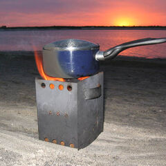 Wood Pellet Camp/Survival Stove from <a href=