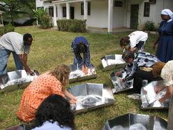 Ts Participants checking food