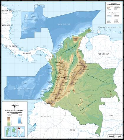 Mapa de Colombia (relieve) svg