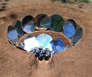 Parabolic Earthen Solar Cooker, Bart Orlando, 1-30-17