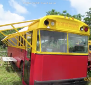 Kua O Ka La school converts old bus to solar dehyrator, 7-5-17