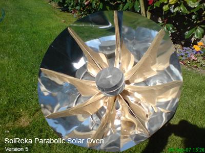 SolReka parabolic solar oven version5
