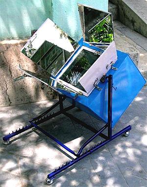 Suspended Box Solar Oven