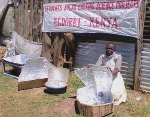 Hexagon Solar Cooker, Eldoret Student Projects 11-29-12